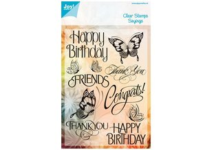 Joy!Crafts und JM Creation Clear stamps, butterflies and Text