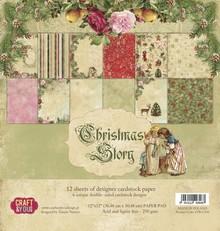 Designer Papier Scrapbooking: 30,5 x 30,5 cm Papier Christmas Story blocco di carta, 30,5 x 30,5 cm