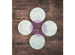 Prima Marketing und Petaloo Resin Clock, 4 pieces