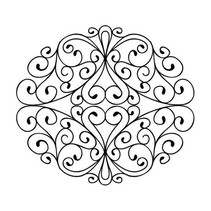 Rubber stamp, stamps To Die For - Wrought Iron Swirls