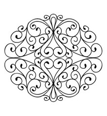 Creative Expressions Rubber stamp, stamps To Die For - Wrought Iron Swirls