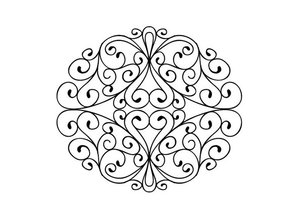 Creative Expressions Gummi Stempel, Stamps To Die For - Wrought Iron Swirls