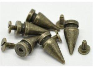 Embellishments / Verzierungen Scrapbooking, Metal små fødder, 2 stk