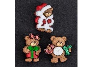 Embellishments / Verzierungen Dress it up, decorations, Charms, add-ies - Christmas Bears