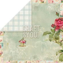 "Designer Papier Scrapbooking: 30,5 x 30,5 cm Papier Designer papir ""Tea Time"", 30,5 x 30,5 cm"
