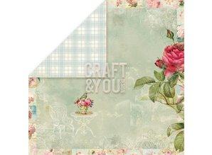 """Designer Papier Scrapbooking: 30,5 x 30,5 cm Papier Diseñador de papel """"Tea Time"""", 30,5 x 30,5 cm"""
