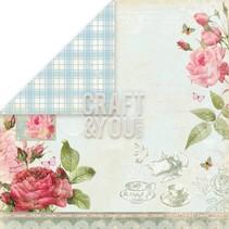 "Designerpapier ""Tea Time"", 30,5 x 30,5cm"