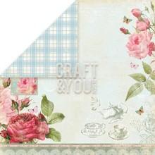 """Designer Papier Scrapbooking: 30,5 x 30,5 cm Papier Designerpapier """"Tea Time"""", 30,5 x 30,5cm"""