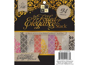 DCWV und Sugar Plum DCWV Designersblock, 24 sheets 15.2 x 15.2 cm decorated with foil.