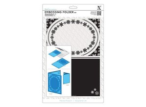 X-Cut / Docrafts A4 Embossing Stencil - frame, Snowflake