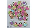 Embellishments / Verzierungen 10 dekorative knapper 33 x 35 mm, Design: Owl