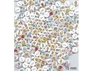 Embellishments / Verzierungen 10 Zierknöpfe 15 mm, Motiv: Baby