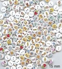 Embellishments / Verzierungen 10 dekorative knapper 15 mm Design: Baby