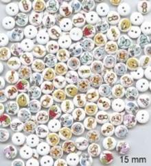 Embellishments / Verzierungen 10 dekorative knapper 15 mm Design: Baby