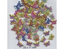 Embellishments / Verzierungen 10 bottoni decorativi 33 x 35 millimetri, Tema: Farfalle