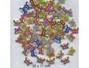 Embellishments / Verzierungen 10 Zierknöpfe 33 x 35mm, Motiv: Schmetterlinge
