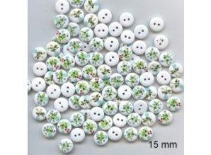 Embellishments / Verzierungen 10 bottoni decorativi 15 millimetri Tema: Fiori
