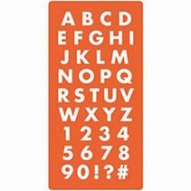 Mod Podge, silicone mold of letters and numbers