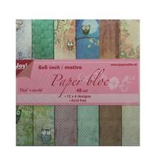 Joy!Crafts und JM Creation Paper bloc, 15x15cm, die Welt der Eule