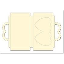 Koffer-Set mit Herzen, creme, Format 25x15cm,  3 Stück!
