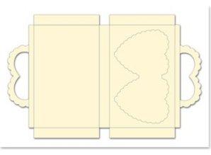 bastelset f r 3 geschenkboxe in hezform creme format. Black Bedroom Furniture Sets. Home Design Ideas