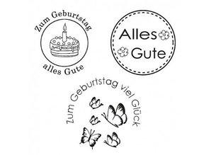 Stempel / Stamp: Transparent Klar Stamp, Glad, 3 - stykke, gennemsigtig