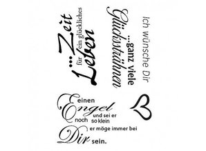 Stempel / Stamp: Transparent Clear stamp, I wish you - 5 part, transparent