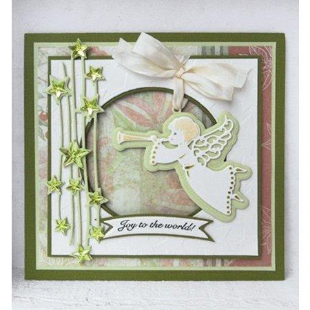 Marianne Design Punzonado y de la plantilla de estampado Craftables, estrella