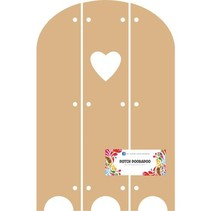 DooBaDoo Olandese - MDF Triptech con il cuore