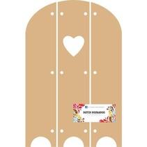 Hollandsk DooBaDoo - MDF Triptech med Heart