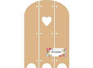 Objekten zum Dekorieren / objects for decorating Dutch DooBaDoo - MDF Triptech with Heart