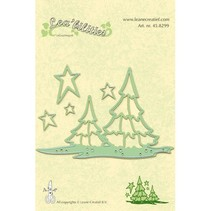 Lea'bilities, embossing and cutting mat, landscape and trees