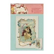 KARTEN und Zubehör / Cards A5 Embellished cornice Decoupage Carta Kit - Victorian Valentine