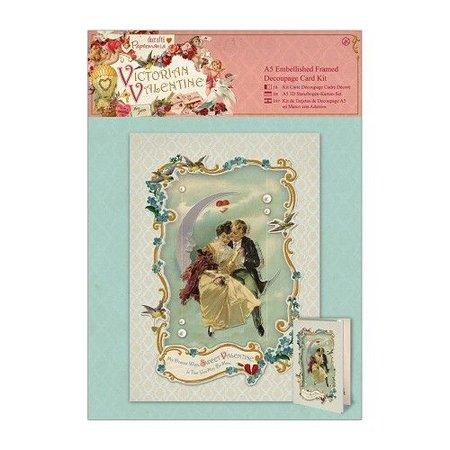 KARTEN und Zubehör / Cards A5 Opgesmukte Framed Decoupage Card Kit - Victoriaans Valentine