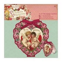 6 x 6 Decoupage Card Kit - Valentine victoriano