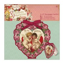 6 x 6 Decoupage Card Kit - Victorian Valentine
