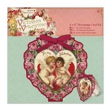 KARTEN und Zubehör / Cards 6 x 6 Decoupage Carta Kit - Victorian Valentine