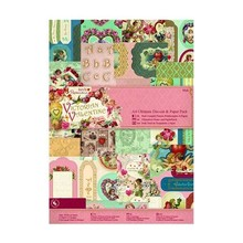 DESIGNER BLÖCKE  / DESIGNER PAPER Ultimate A4 Die-cut & Paper Pack (48pk) - Victorian Collection