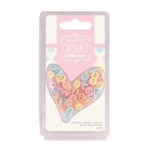 Mini buttons with points (60Stk) - Capsule - Spots & Stripes Pastels