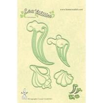 Lea'bilities, gofrado y cortar, conchas marinas y las olas