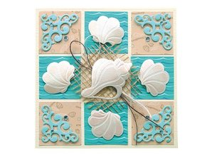 Leane Creatief - Lea'bilities Lea'bilities, embossing and cutting mat, seashell and waves