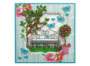 Marianne Design Embossing and cutting template, Garden Bank