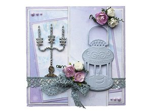 Joy!Crafts und JM Creation Embossing and cutting mat, candle holders and lamp