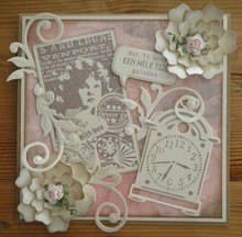 Marianne Design Marianne Design, Romantic Vintage With love, stamp CS0866.