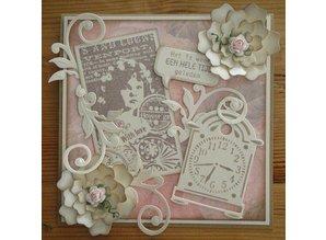 Marianne Design Marianne Design, Romantic Vintage med kærlighed, stempel CS0866