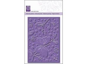 embossing Präge Folder Prägefolder, Blumen & Schmetterling, A6, 14,8 x 10,5cm