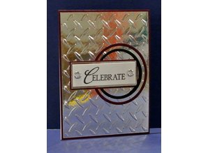 embossing Präge Folder Carpetas de repujado, la placa del diamante, A6, 14,8 x 10,5 cm
