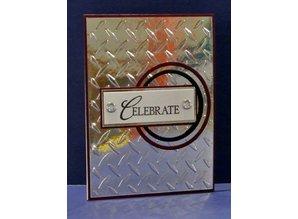 embossing Präge Folder Cartelle in rilievo, piastra di diamante, A6, 14,8 x 10,5 centimetri