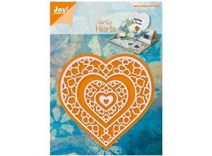 Joy!Crafts und JM Creation Prægning og udskæring skabelon, hjerte