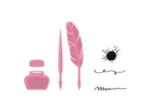 Marianne Design Prægning og skære skabelon + stempel, pen, pen og blæk